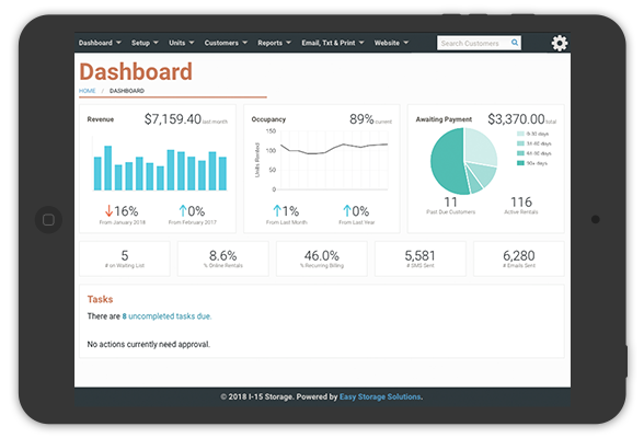 easy storage dashboard